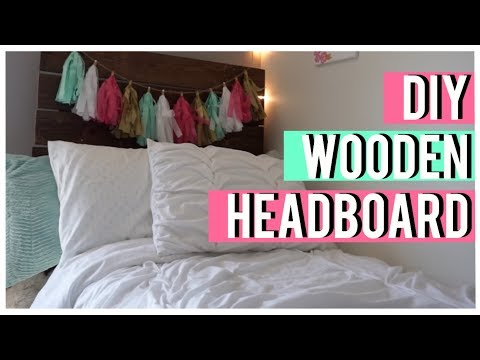 DIY WOODEN HEADBOARD FOR DORM ROOM | VLOG