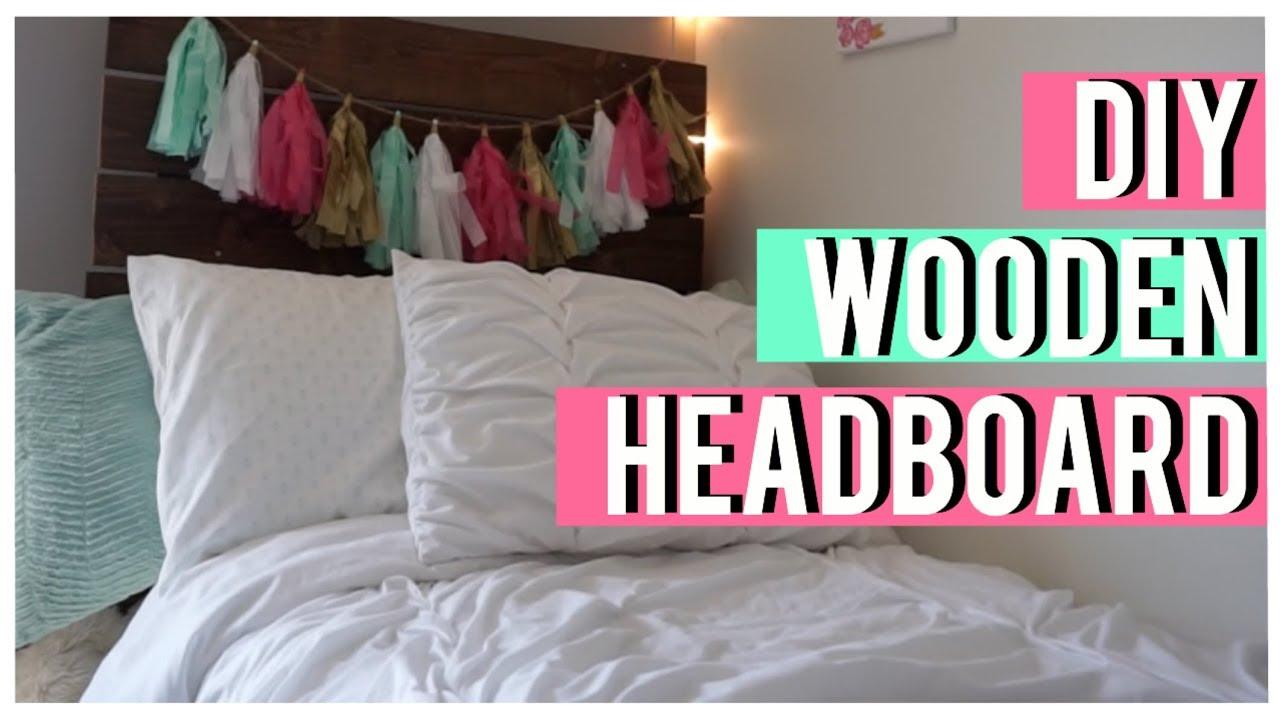 Diy Wooden Headboard For Dorm Room Vlog