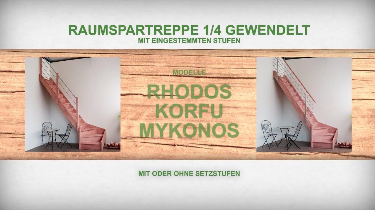 raumspartreppe 1 4 gewendelt montageanleitung starwood treppenshop youtube. Black Bedroom Furniture Sets. Home Design Ideas