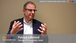 EU experts in the spotlight: Dr. Patrick Leblond on career advise for young scholars