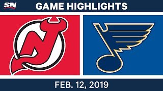 NHL Highlights   Devils vs. Blues - Feb 12, 2019
