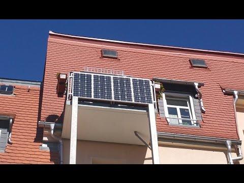 320W Balkon Solaranlage die Montage + Anschluss German/Deutsch 1080p