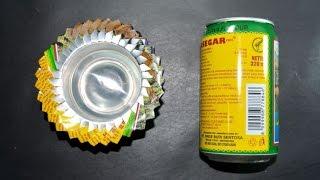 cara membuat asbak dari kaleng bekas
