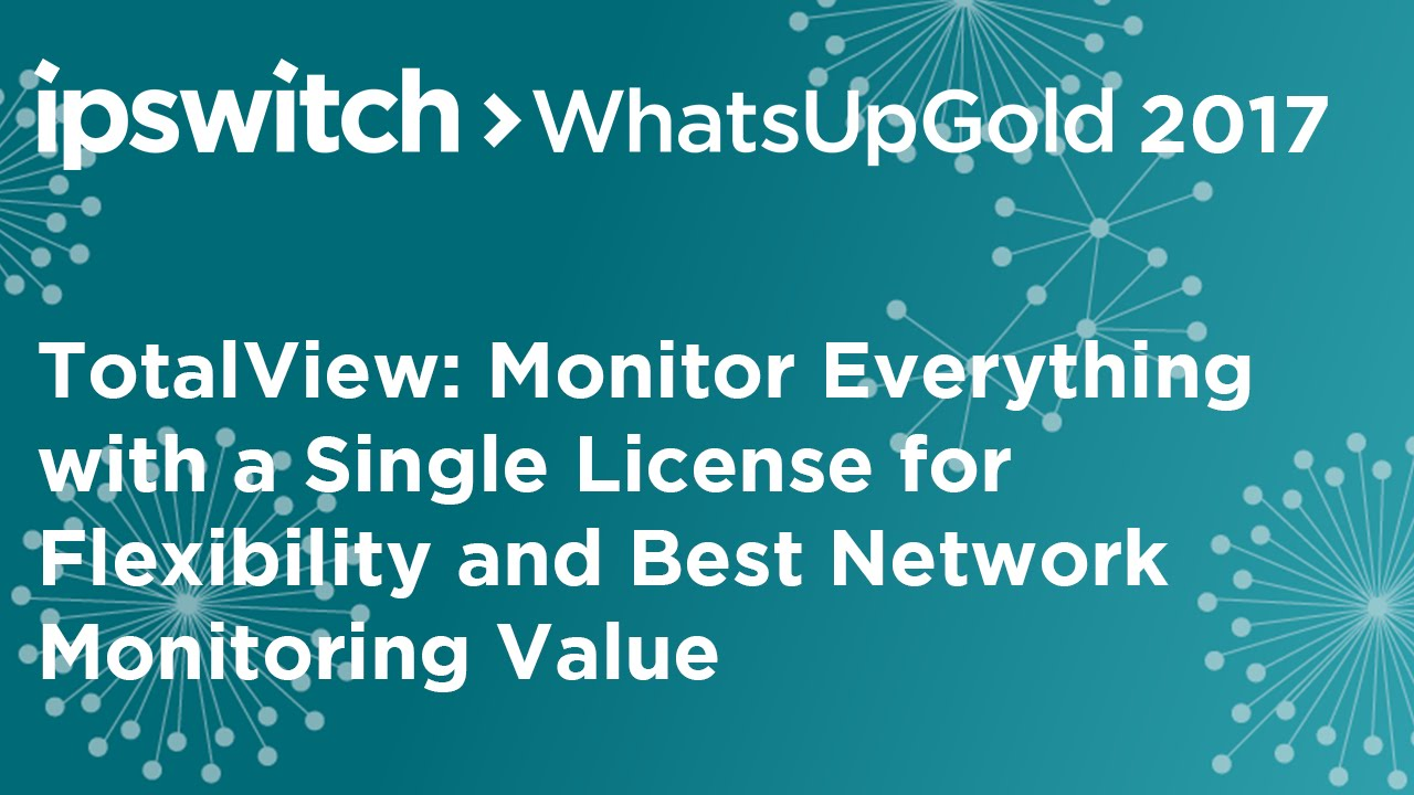 Ipswitch TotalView: Monitor Everything with a Single, Flexible License