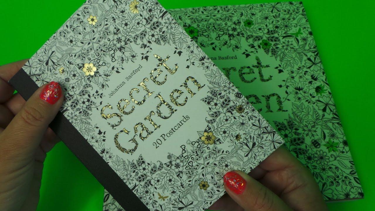 Secret Garden Johanna Basford Review Of Large Vs Small 20 Postcard Books