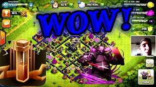 Clash Of Clans | 9 EARTHQUAKE SPELLS + PEKKA'S!