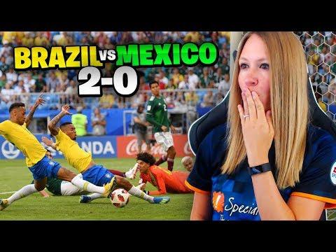 BRAZIL vs MEXICO !!! LIVE REACTION!