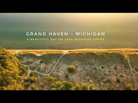 A beautiful day in Grand Haven Michigan - Mavic Pro (Travel Video)