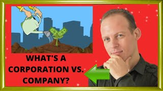 What is a corporation and the difference between a company and a corporation