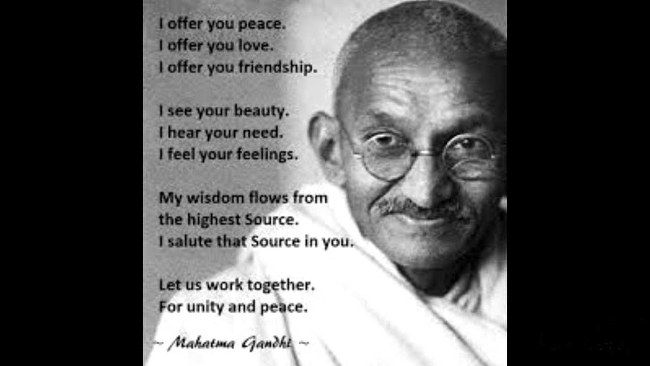 Mahatma Gandhi Quotes On Love Obama Western Civilization Values And Rule Of Law  Abstract