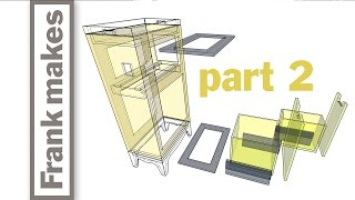Microwave/Recycling Bin/Shredder/Mail Tray Cabinet - Part 2 of 3