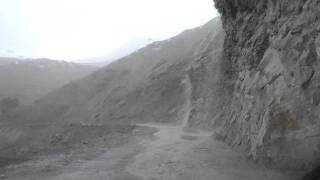 cloud burst, hail storm & landslide on the way to LEH