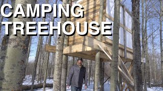 Building A Treehouse And Camping For The Night