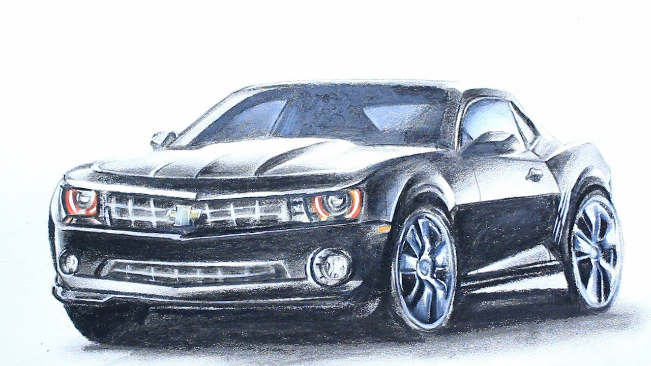 Art Videos How To Draw A Chevrolet Camaro Youtube