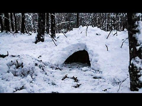 Making a Quinzee Winter Survival Shelter