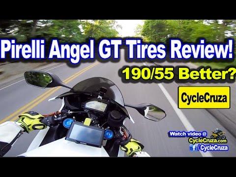 190/55 Tire Better? CBR1000rr Pirelli Angel GT Tires Review! | MotoVlog