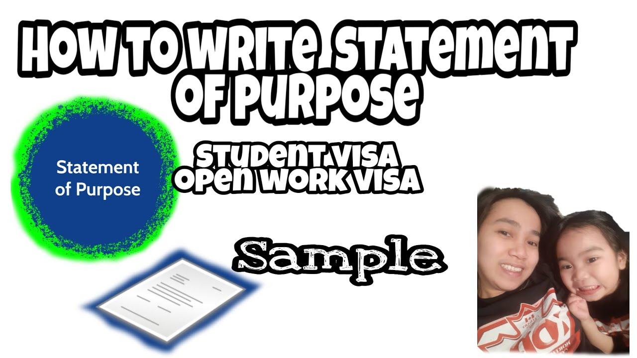 Work Visa Canada Sample Sop