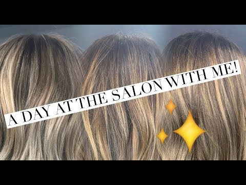 A DAY AT THE SALON WITH ME! 10 CLIENTS