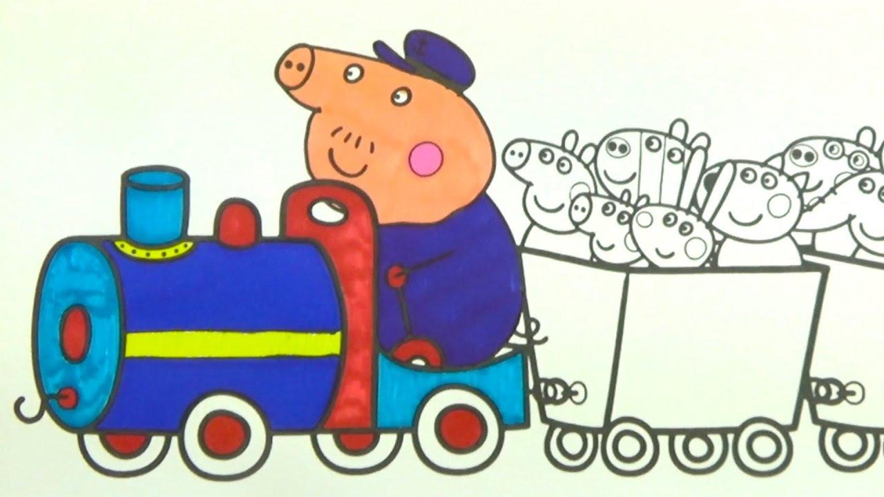 Свинка Пеппа раскрашиваем героев мультика. Раскраска для детей