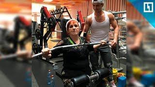Фитнес-бабушка готовится к лету