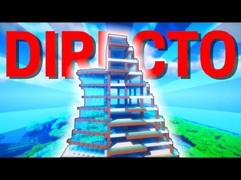 DIRECTO: HOTEL MODERNO IMPROVISADO CON COLEMAN - MINECRAFT
