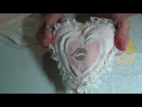 Sew and No Sew Shabby Heart Ornaments