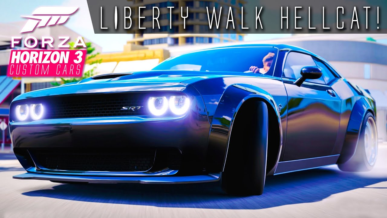 1047hp liberty walk hellcat drift build forza horizon 3 custom cars 2 youtube. Black Bedroom Furniture Sets. Home Design Ideas