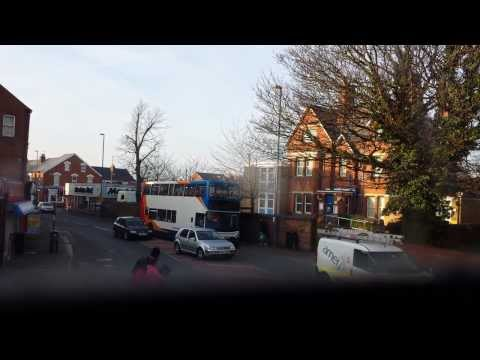[GLOUCESTERSHIRE BUSES] Ride on Stagecoach Dennis Trident to Gloucester City Centre 08/03/2014