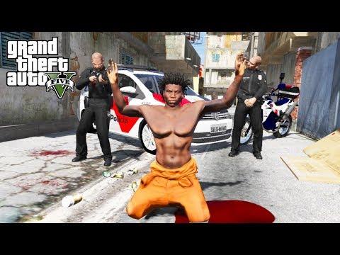 POLICIA COLOU NA FAVELA! FUI PRESO?!?! GTA V - Vida de prisioneiro