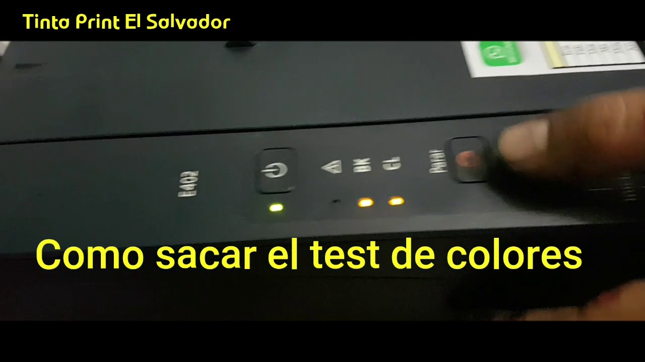 Como sacar el test de colores en Multifuncion Canon - YouTube