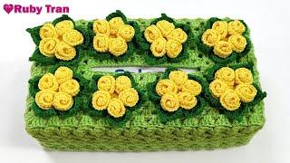 Hướng Dẫn Móc Áo Hộp Khăn Giấy Hình Chữ Nhật #1   Crochet Tissue Box Cover Handmade