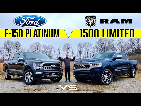 KINGS OF LUXURY! -- 2021 Ford F-150 Platinum Vs. 2021 RAM 1500 Limited: Comparison