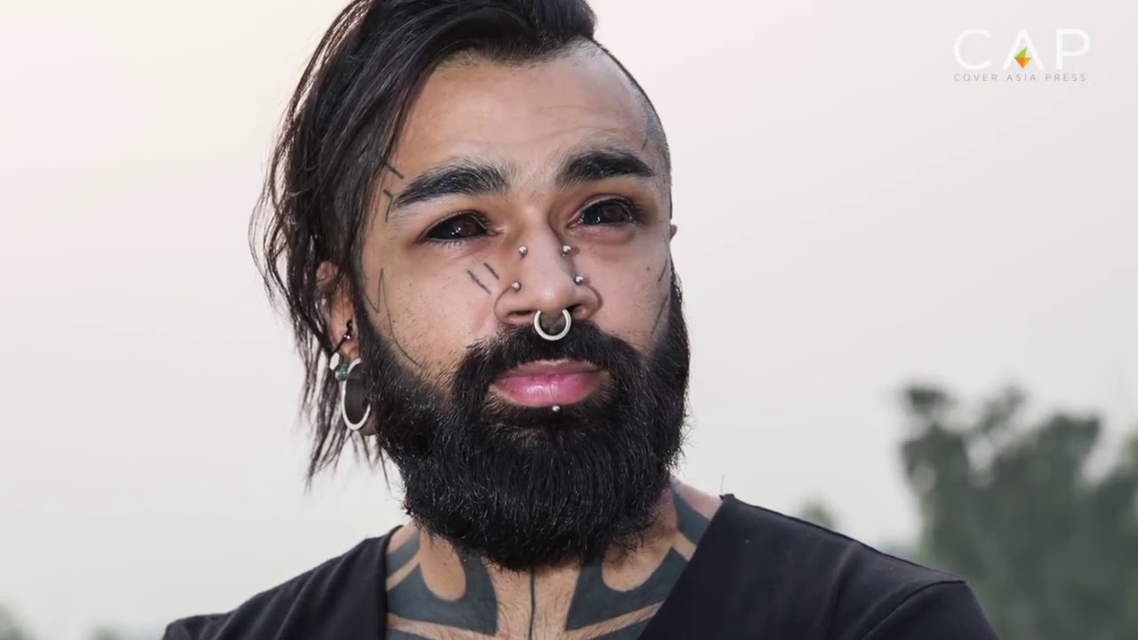 First eye ball tattoo in India, New Delhi. Tattoographer Karan