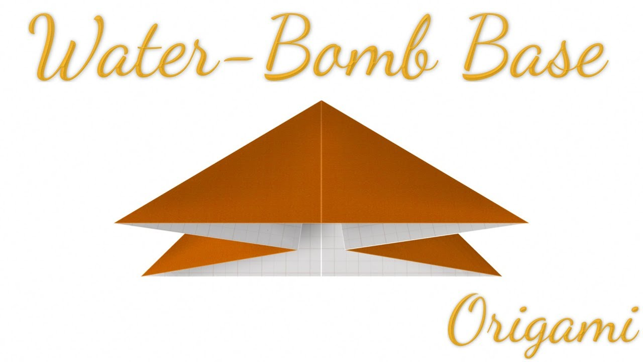 Origami Waterbomb Base | Origami water bomb, Star wars origami ... | 720x1280