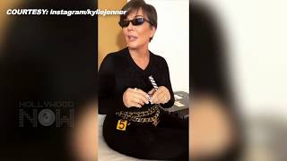 CUTE Kris Jenner MESSES Kylie Jenner's Makeup Instagram Story