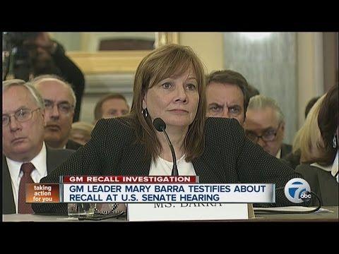 GM CEO Mary Barra testifies about recall at U.S. Senate hearing
