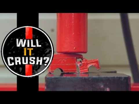 Metal Toy Car + Rock | Will It Crush? | 20 Ton Hydraulic Press