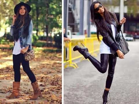 e73ac5cf9c Outfits casuales con botines - YouTube