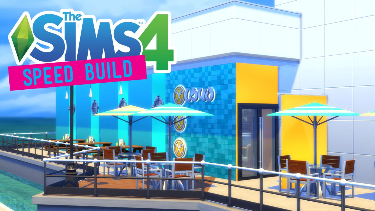 The Sims 4 Speed Build Ocean Cafe Mako Mermaids No