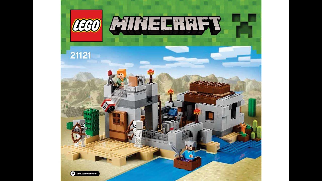 Lego 21121 The Desert Outpost Instructions Lego Minecraft 2015 Youtube