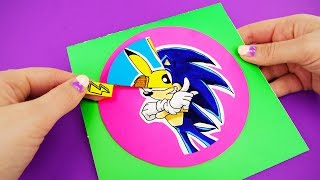 POKEMON Detective Pikachu and SONIC the Hedgehog at DIY SPIN CARD