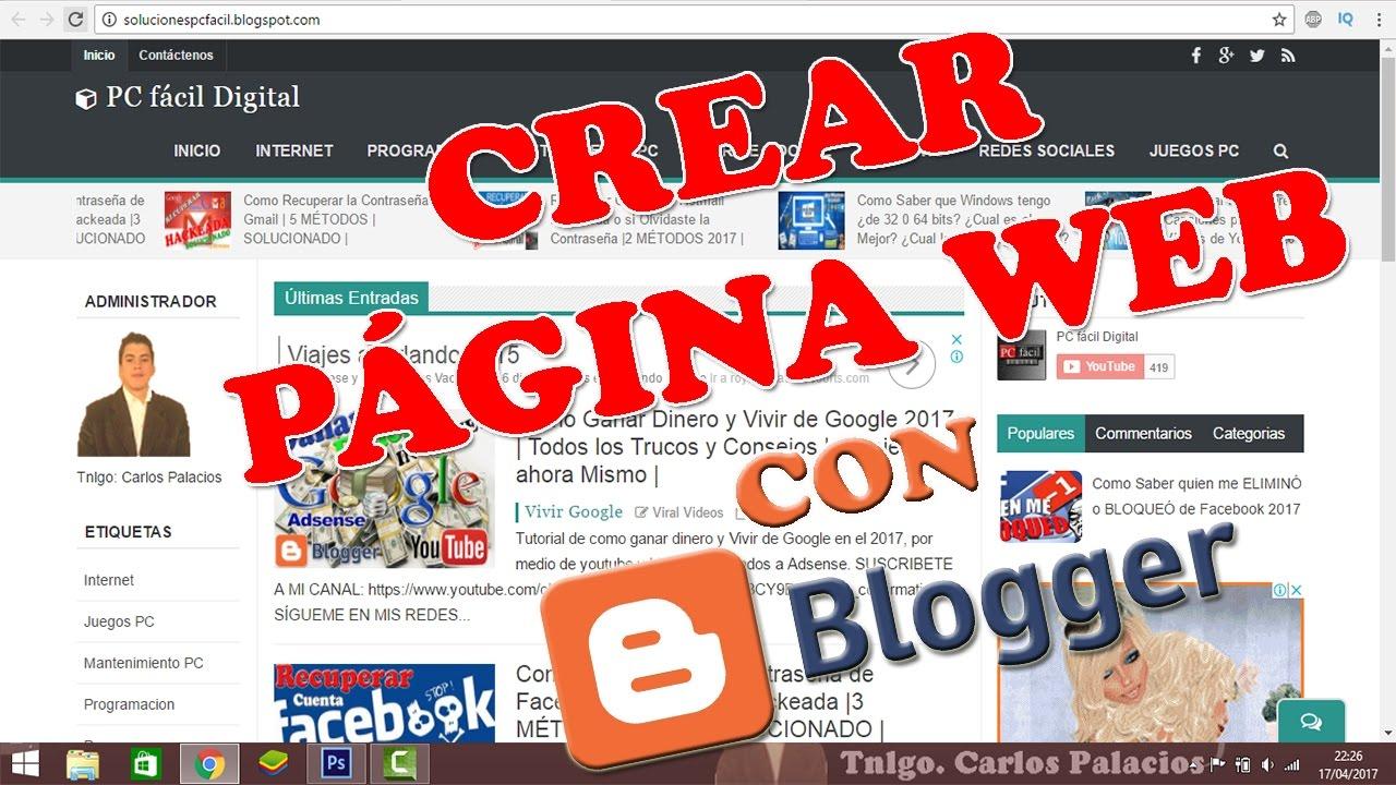 Crear Blog con Blogger al Estilo Página Web con Plantillas ...