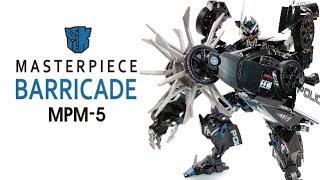 KL變形金剛玩具分享261 MPM-5 電影系列 判官/路障 Masterpiece Movie Series Barricade
