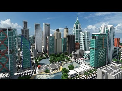 how to make a city in minecraft command block