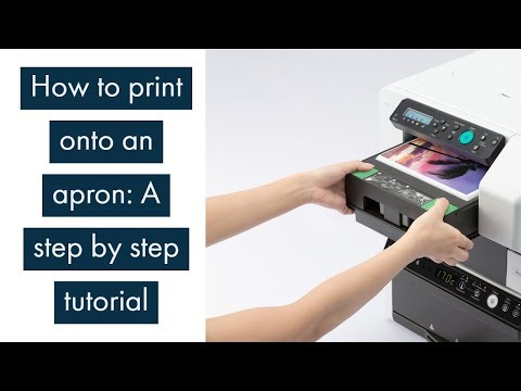 Easy Ricoh Garment Printer Tutorial: Printing On An Apron