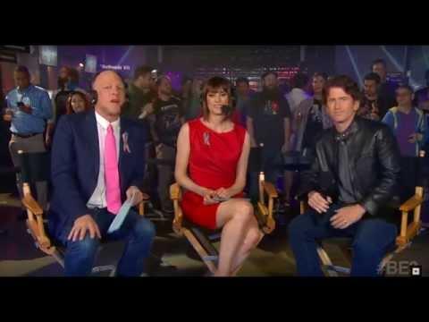 Fallout 4 DLC/SKYRIM Interview Morgan Webb,Adam Sessler,Todd Howard E3 2016