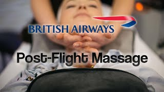 British Airways Offer a MASSAGE on Arrival ( England Rugby Team Arriva