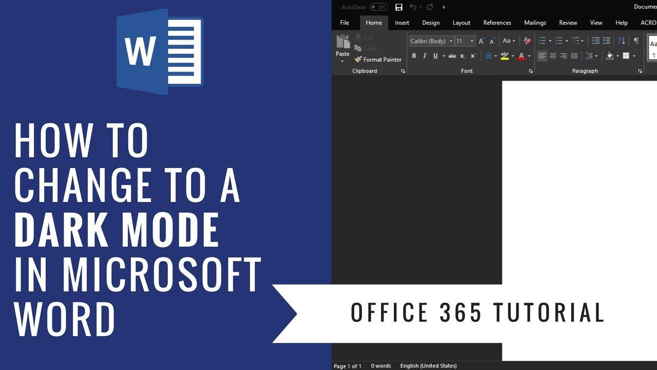 microsoft office 2016 mac dark mode