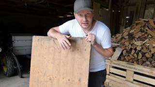 Überdachtes Sandbad selber bauen (aus alten Brettern)