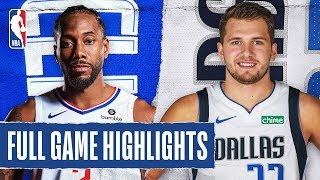 CLIPPERS at MAVERICKS | FULL GAME HIGHLIGHTS | January 21, 2020